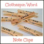 Clothespin Word Note Clips