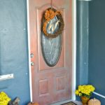 Copper-Front-Door-With-Monogram-Doormat-H2OBungalow