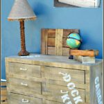 How to faux paint furniture to look like it's fresh off a cargo ship. Simple step by step tutorial. www.H2OBungalow.com