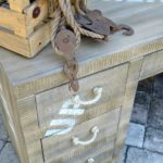 Paint cargo style furniture to look like genuine wood, aged and worn. Simple H2OBungalow