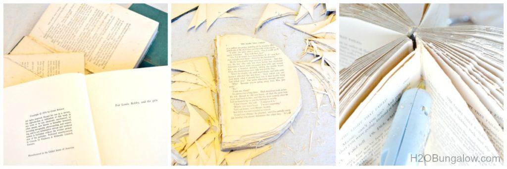 cut book steps for book pumpkin