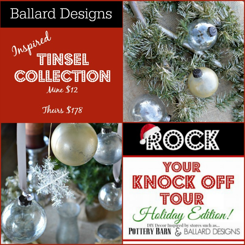 ballard inspired gold and silver mercury glass and