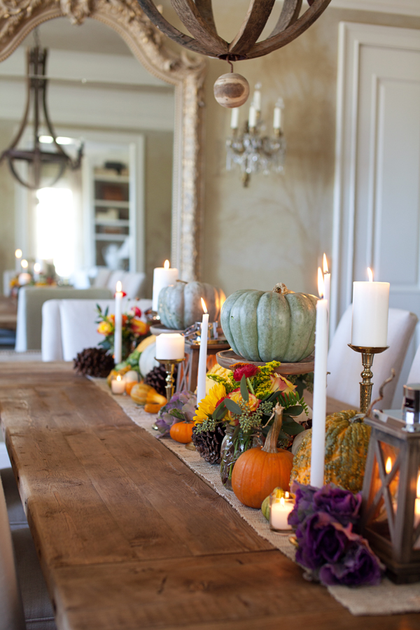 The letered cottage fall tablescape
