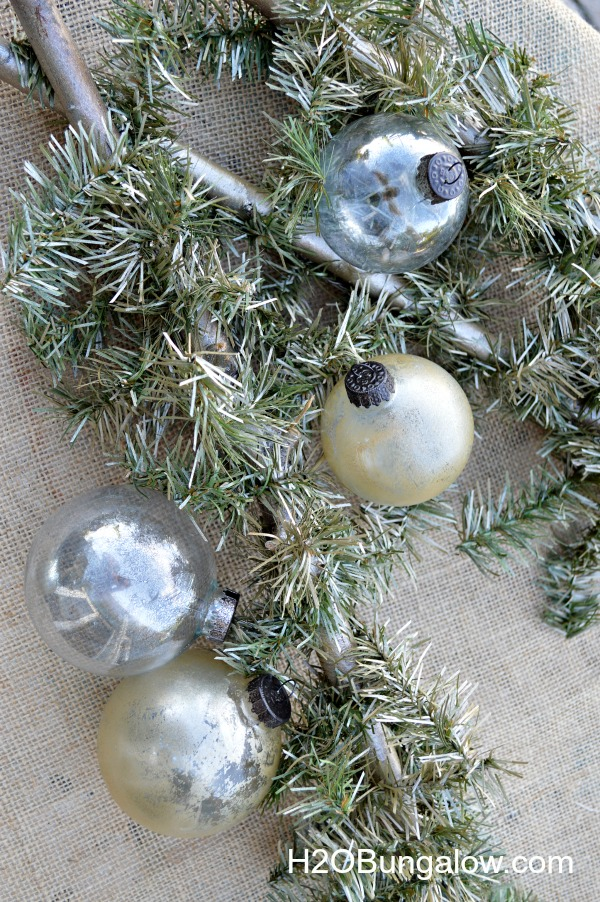Mercury-glass-ornaments-in-silver-and-gold-Ballard-Knockoff-H2OBungalow