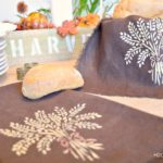 No Sew Stenciled Bread Basket Liner