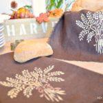 No Sew Stenciled Bread Basket Liner