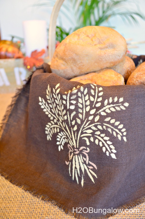 Royal-design-Studio-stenciled-bread-basket-liner-and tea-towel-H2OBungalow
