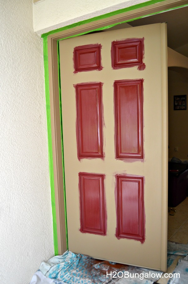 How to paint a front door tutorial for a beginner DIY'er. Includes plenty of useful tips like how to tell if your painting over latex or oil paint, how to wash paint easily off your hands, how to prep a door for paint and more useful painting tips.