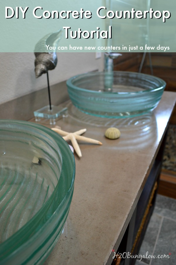 Step By Tutorial With A For Diy Concrete Countertop We Made Our