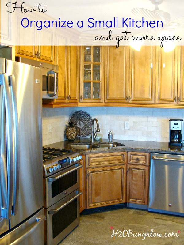 How To Organize A Small House how to organize a small kitchen and get more space