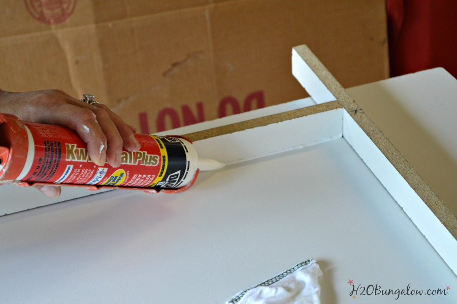 caulk frame for concrete