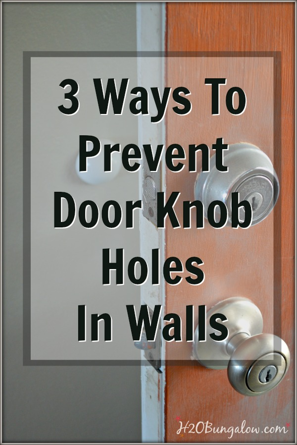 3 most common ways to stop door from hitting wall