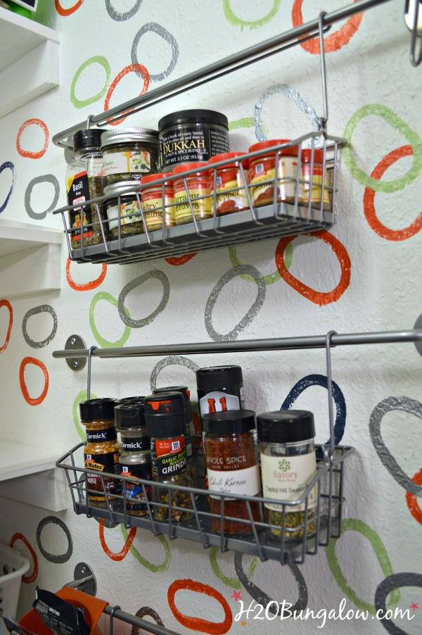 Organized-spice-rack-on-a-wall-saves-space-in-a-small-kitchen-H2OBungalow