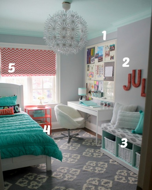 Small tween room makeover
