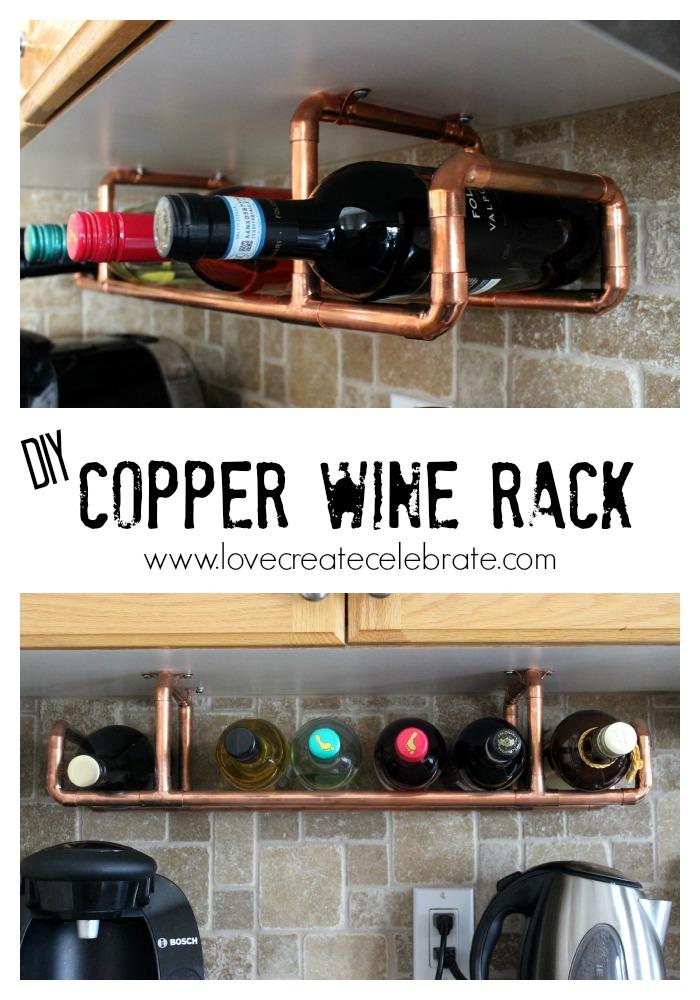Copper wine holder