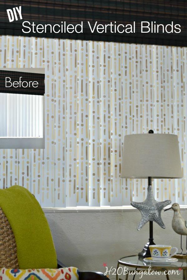 DIY-stenciled-vertical-blinds-tutorial-with-Royal-Design-Studio-Stencil-H2OBungalow