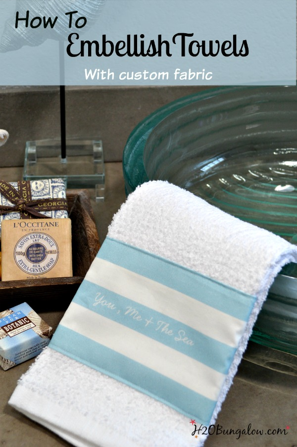How-to-embellish-towels-with-custom-fabric-by-H2OBungalow