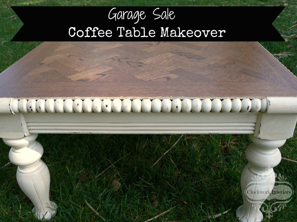 garage sale coffee table makeover
