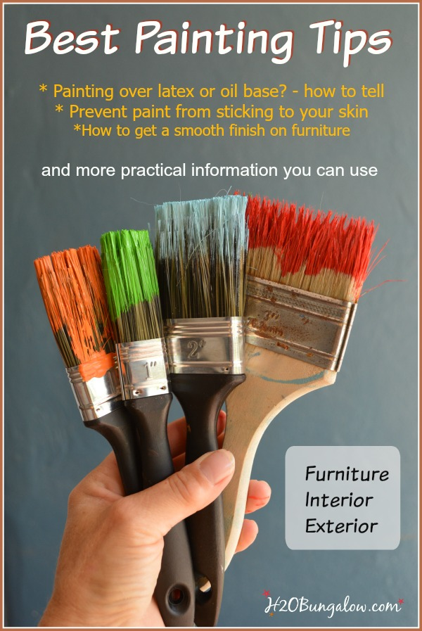 These tips are my favorite and most useful painting tips that will save time and help your next painting project be as awesome as the vision you have of your project:) Time tested and collected. www.H2OBungalow.com #painting #paintingtips