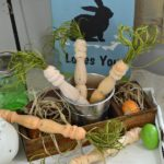 Bed Spindle Easter Carrots