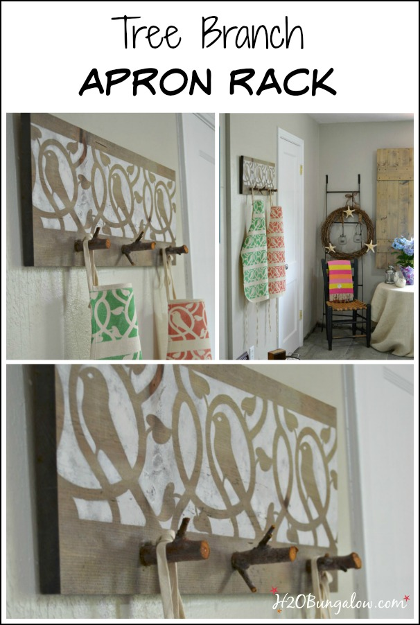 Cut-tree-branch-birdie-stencil-apron-rack-tutorial-H2OBungalow
