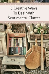 Five creative ways to deal with sentimental clutter that will help you declutter, save memories and free up space by H2OBungalow #organize #smallhomebigstyle