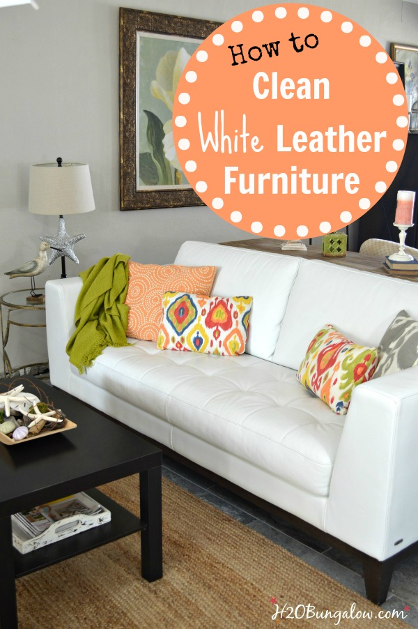 how to clean white leather furniture - White Leather Sofa