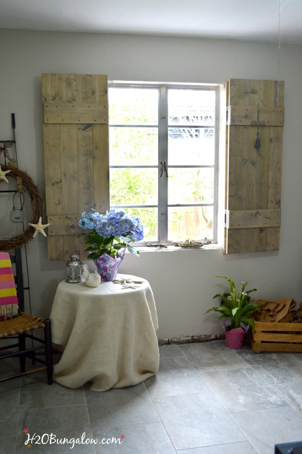 Build Your Own Set Of Old World Inspired Wood Shutters. Finish Raw Wood  With An
