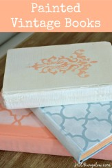 Painted-and-waxed-vintage-books-with-spring-colors-breathe-new-life-into-unwanted-books-H2OBungalow