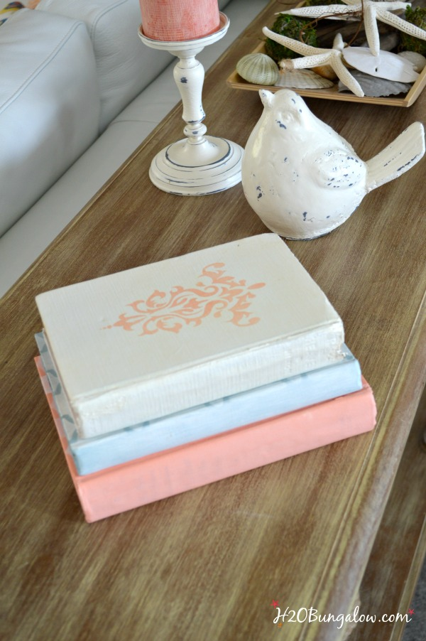 Painted-vintage-books-in-spring-colors-H2OBungalow