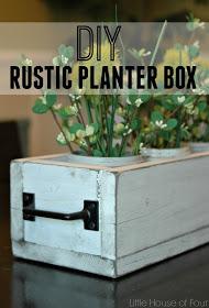 diy rustic planter box