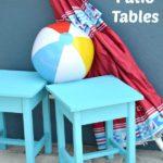 Easy DIY Patio Table Plans