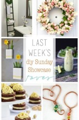 DIY Sunday Showcase features for April 4th 2015