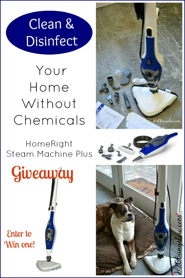 Win a HomeRight Steam Machinne Plus for chemical free cleaning in your home I H2OBungalow.com