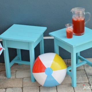 Build these DIY outdoor patio tables in an afternoon. H2OBungalow