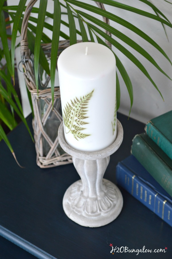 Fern images added to this candle took less than 10 minutes. H2OBungalow