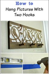 How to easily hang double hook pictures, frames and artwork. So easy, all you need to do is see the pictures! H2OBungalow.com
