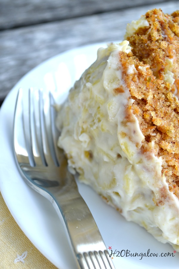 Tasty-carrot-cake-recipe-with-pineapple-creamchees-icing-a-family-favorite-recipe-H2OBungalow