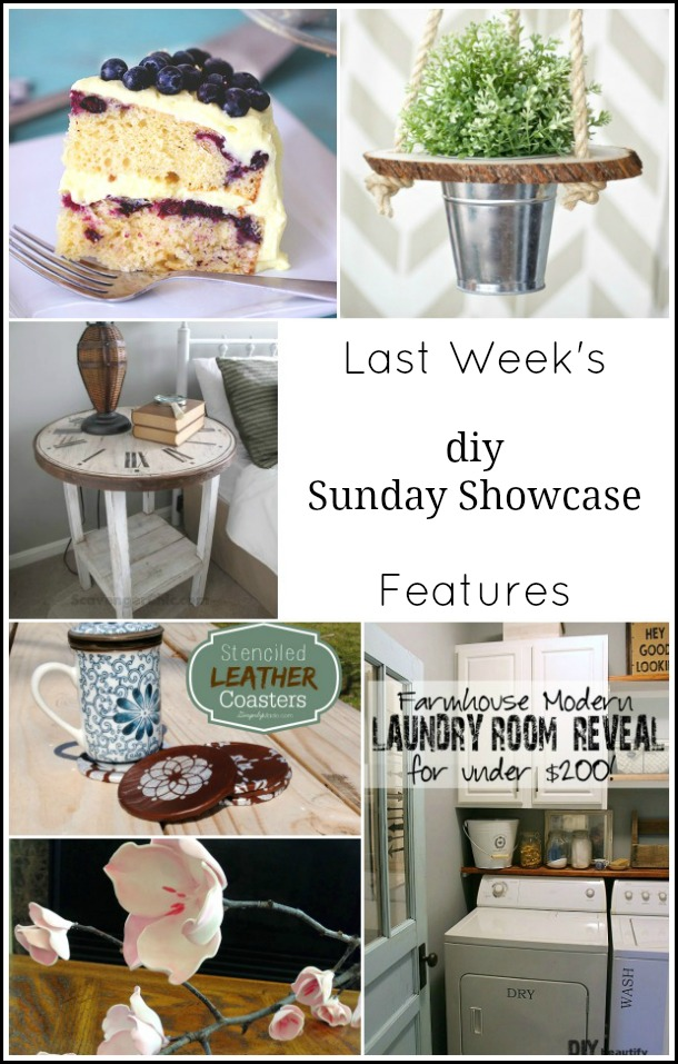 diy Sunday Showcase features for April 19, 2015