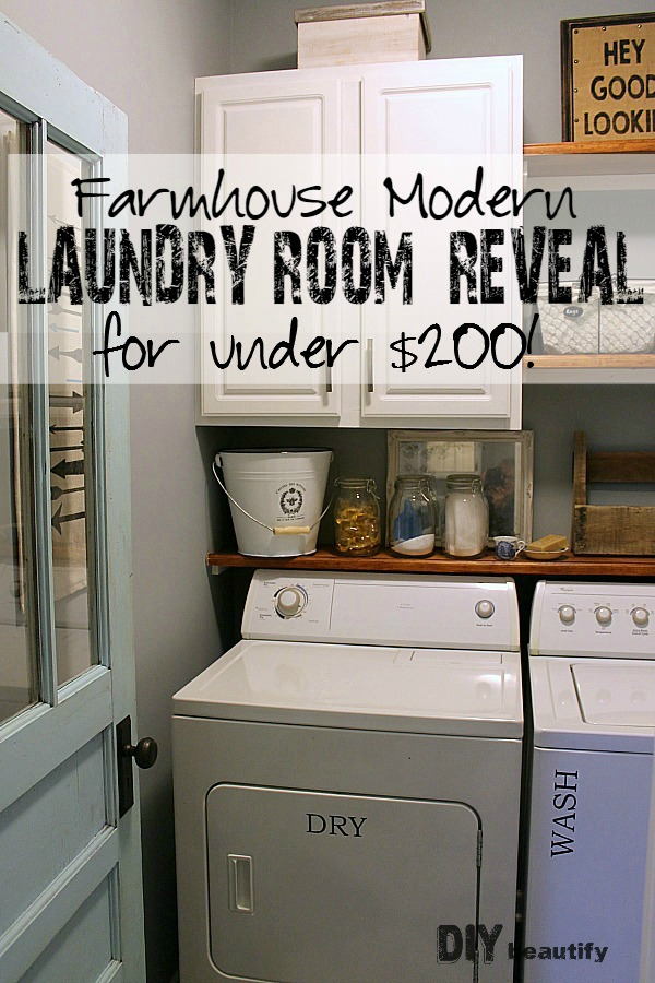 Farmhouse modern laundry room makeover