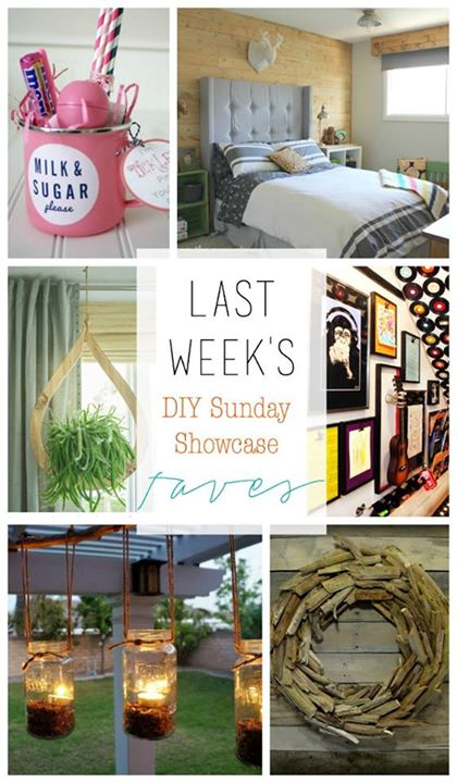 DIY Sunday Showcase Feautures for 5.17  includes two fantastic room makeovers, decor ideas for inside and out to freshen for spring and a lovely gift idea for a special friend! H2OBungalow #weeklylinky