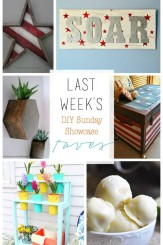 This weeks fabulous Features for the DIY Sunday Showcase. Come link up your best post, project or recipe for lots of exposure H2OBungalow.com