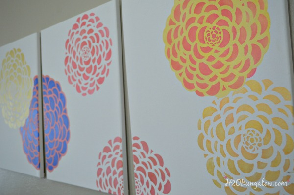 DIY-Tryptic-stenciled-wall-art-H2OBungalow