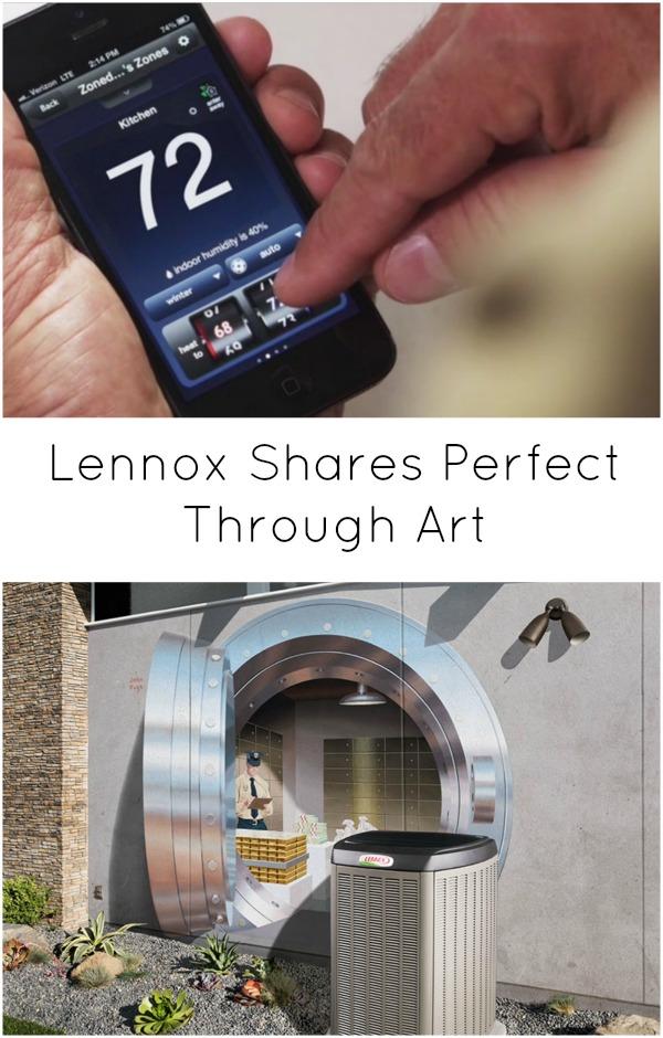 Lennox shares perfect through art. H2OBungalow