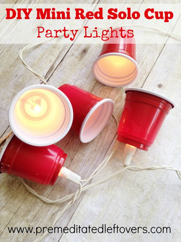Mini red solo cup lights