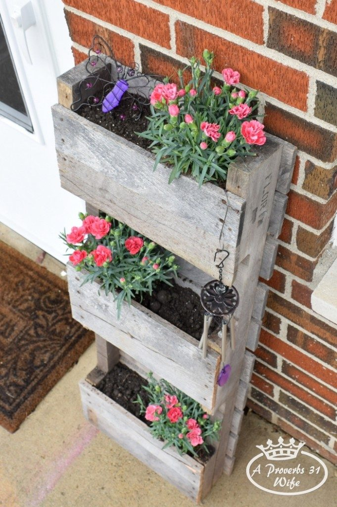 Butterfly Pallet Planter featured on DIY Sunday Showcase by A Proverbs 31 Wife