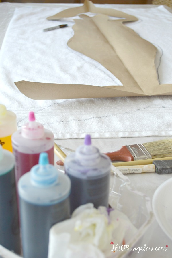 Create a pattern for tie dye mermaid beach towel H2OBungalow