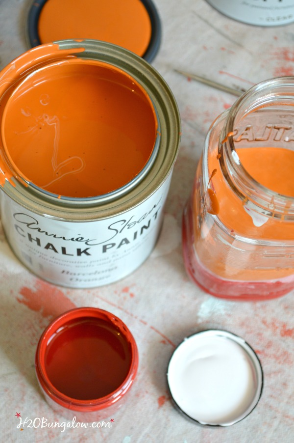 I blended Annie Sloan Chalk Paint colors to make a beautifiul shade of coral and transformed a red leather contemporary office chair into a beautiful vibrant coral color. See my post for the recipe H2OBungalow #paintedfurniture #contemporaryfurniture #chalkpaint