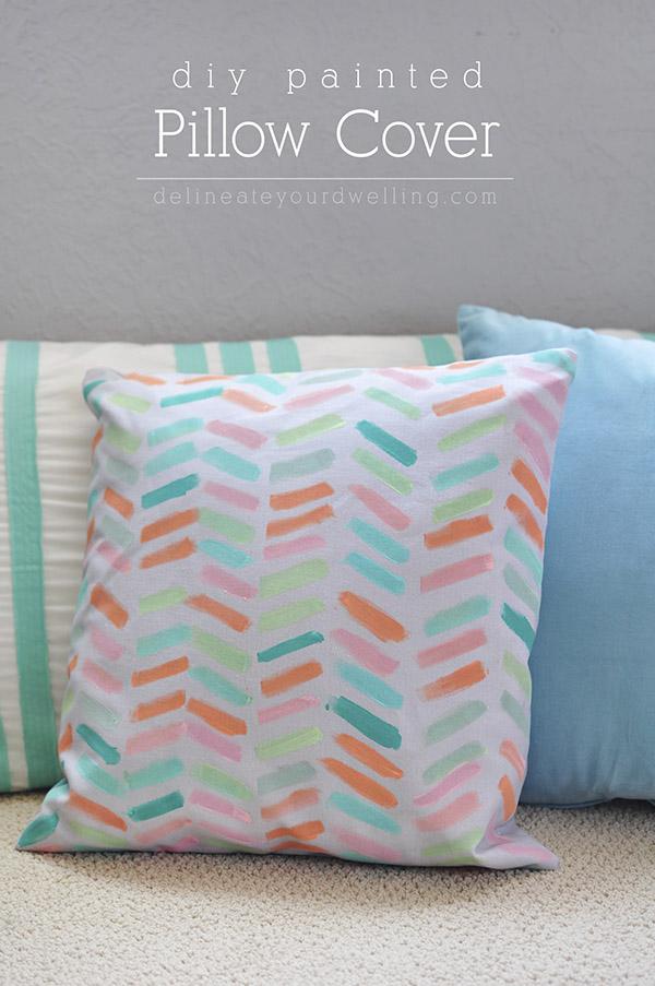 DIY painted pillow DIY Sunday Showcase feauture