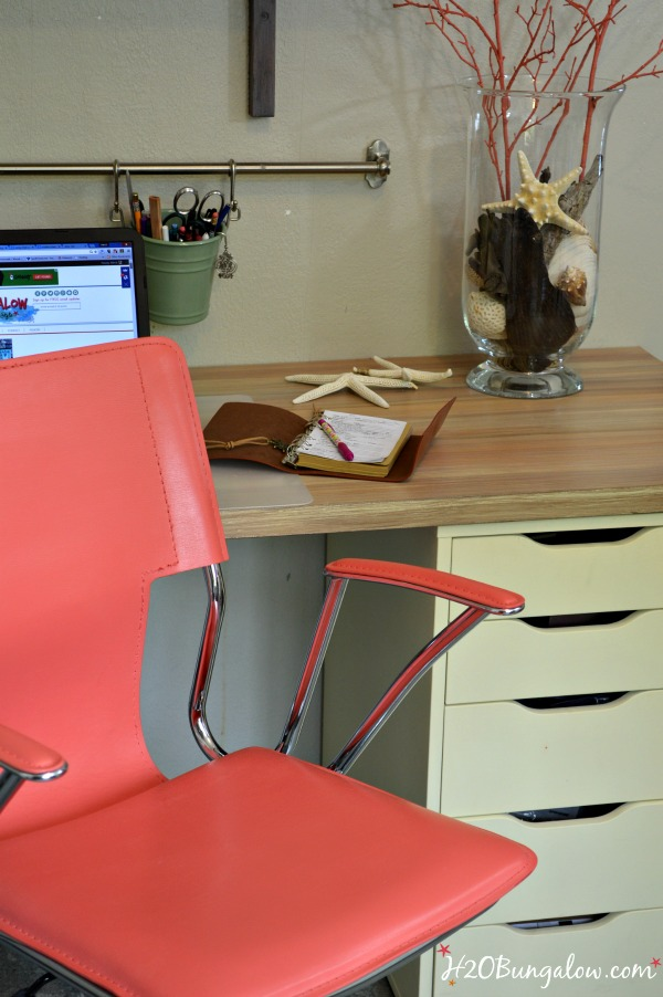 I share on my post how to paint contemporary leather furniture with custom blended Annie Sloan Chalk Paint to make the perfect shade of coral. I share the simple steps to prep for painting on leather too. H2OBungalow
